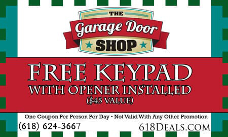 garage doors free keypad coupons o'fallon illlinois